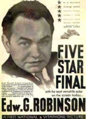 Five Star Final 1931 DVD - Edward G. Robinson / Marian Marsh